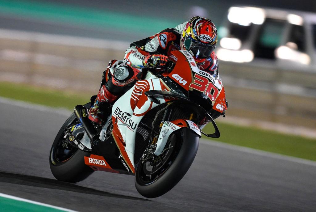 Nakagami MotoGP test Katar
