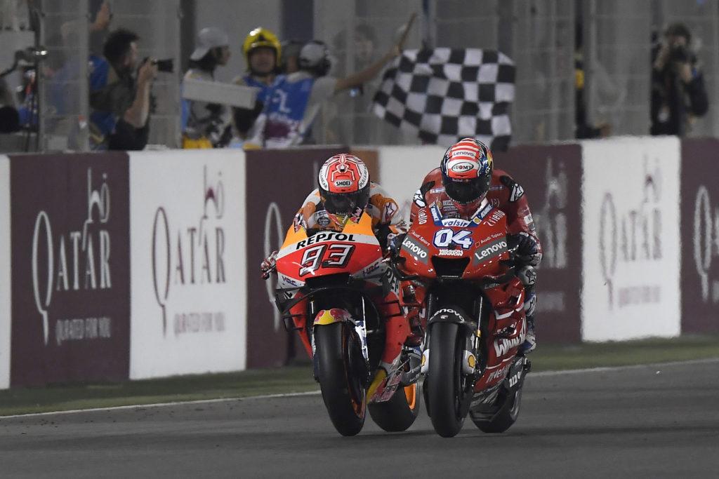 Andrea Doviciozo i Mark Markez, MotoGP Losail