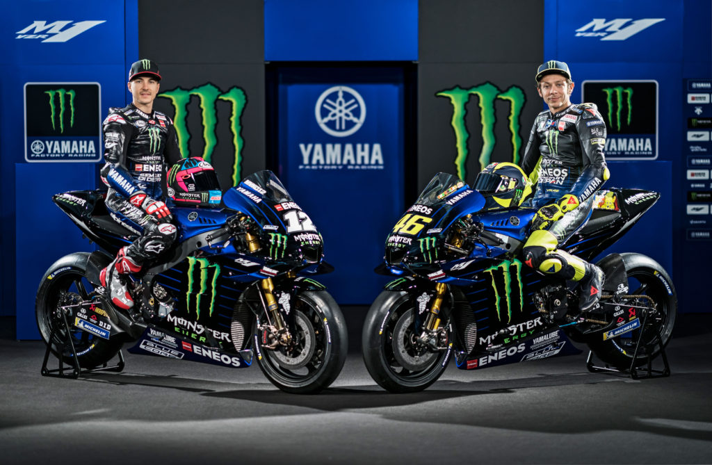 Maverik Vinjales i Valentino Rosi, Yamaha