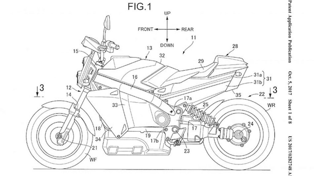 Patent Hondinog motocikla na vodonik
