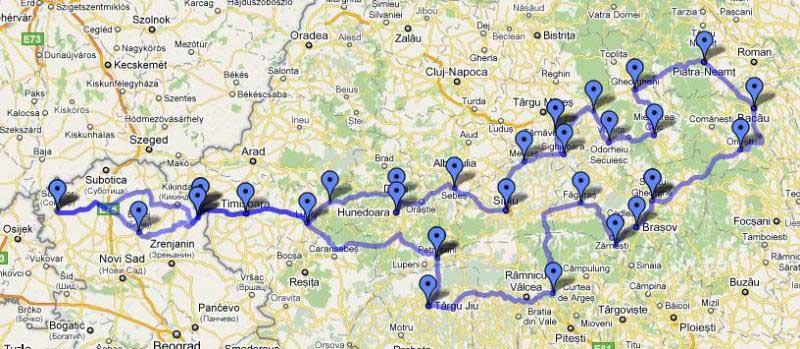 2.000 km po Rumuniji