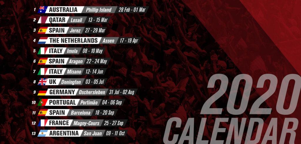Zvanični WSBK kalendar za 2020. godinu