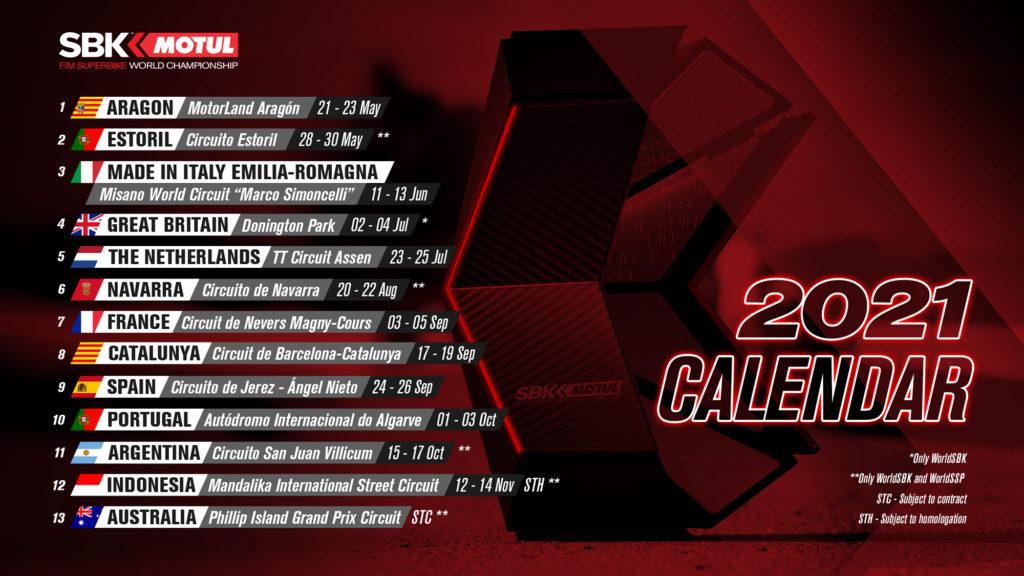 WSBK kalendar (ponovo) ažuriran